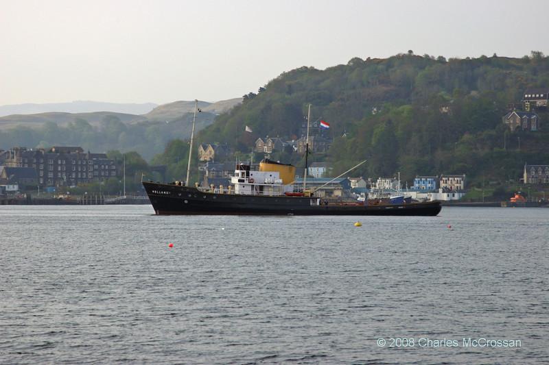 Former salvage tug Holland arriving into Oban bay