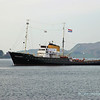 Former salvage tug Holland anchored in Oban bay