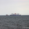 Stena Caledonia about to pass Multipurpose DP Vessel Normand Tonjer off Douglas