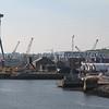 New Aircraft carrier, Queen Elizabeth under construction at Rosyth