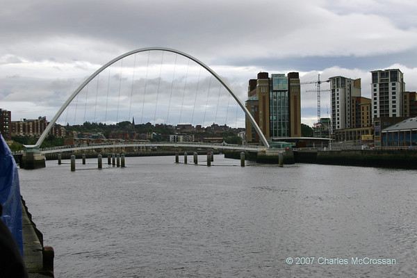 2007 Millenium Bridge at Newcastle Opening for Boat Passage  16th September 2007