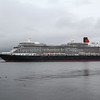 Queen Elizabeth departing Greenock