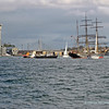 Sailing ship James Cook in Darling Harbour, returning to her museum berth