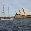 Two masted brigantine Soren Larsen, around Sydney harbour
