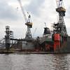 Dredger Barent Zanen in floating dry dock