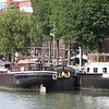 barges around tyhe Maritime Museum - Syndicus nearest camera; Velocette behind