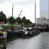 Various small craft , barges and workboats in Oudehaven, Rotterdam
