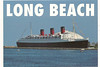 Postcard I bought showing the Queen Mary in her Long Beach harbor mooring.