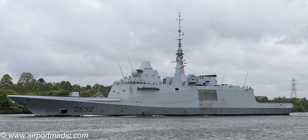 FS AQUITAINE (D650) French Navy Leaving The River Clyde 08th May 2019