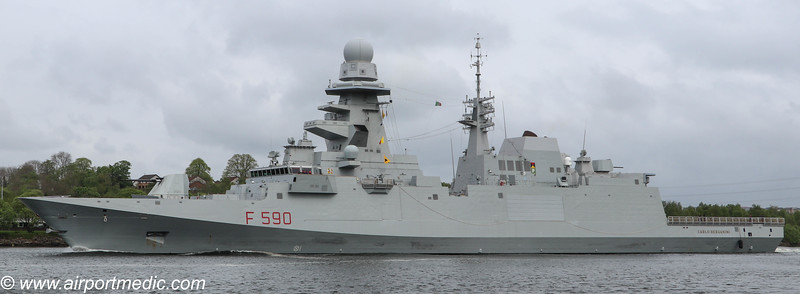 Carlo Bergamini (F 590) Italian Navy Leaving The River Clyde 08th May 2019