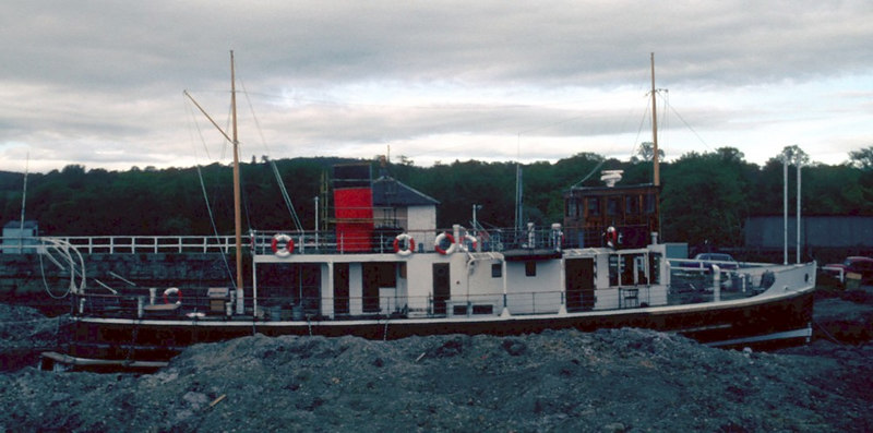 Countess Fiona fitting out in her launch dock at Balloch