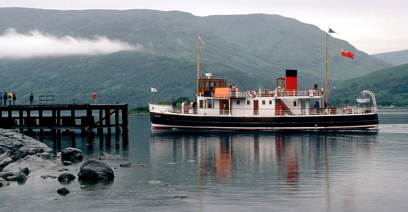 Countess Fiona arriving at Rowardennan, the new pier built just a few years earlier