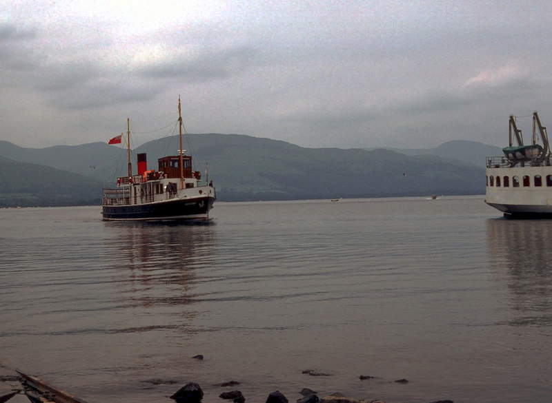 Countess Fiona approaching her berth alongside Maid of the Loch