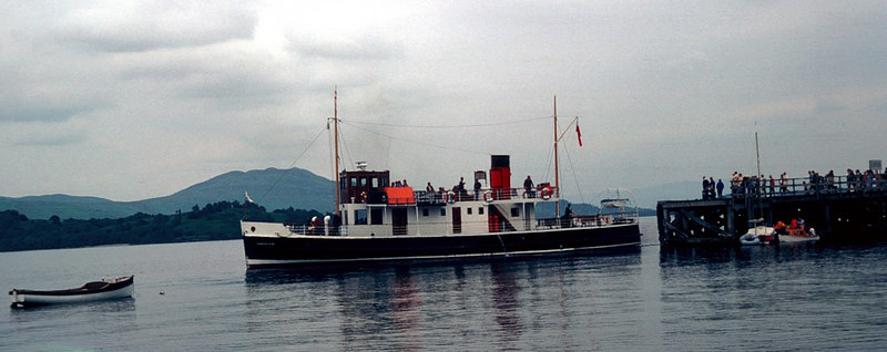 Countess Fiona leaving Luss for Rowardennan
