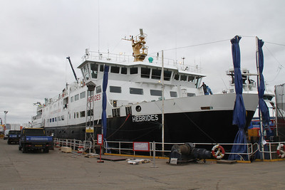 Hebrides in dry dock at Dales Marine Services, Aberdeen