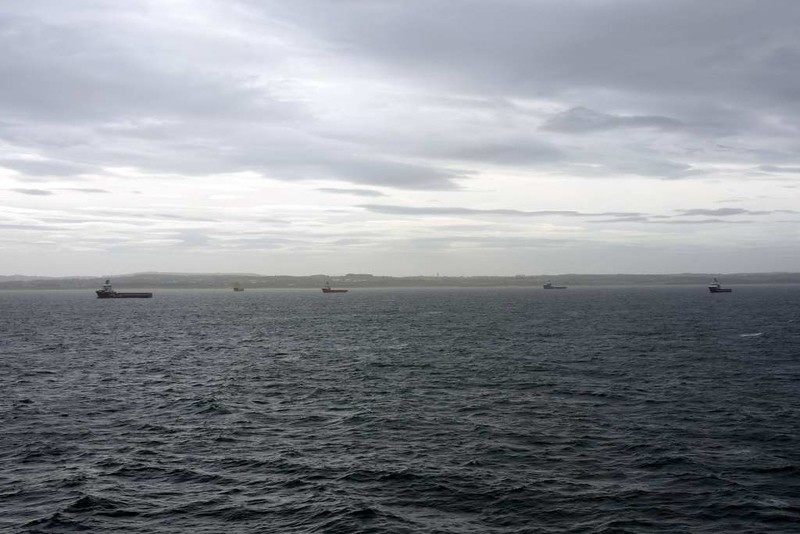 Offshore support ships, Aberdeen, 23 May 2015