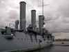 Aurora, St Petersburg, 26 September 2004 3.  Aurora's guns were landed in 1941 for the defence of Leningrad after the Germans invaded Russia.  Aurora was bombed and sunk in September 1941.