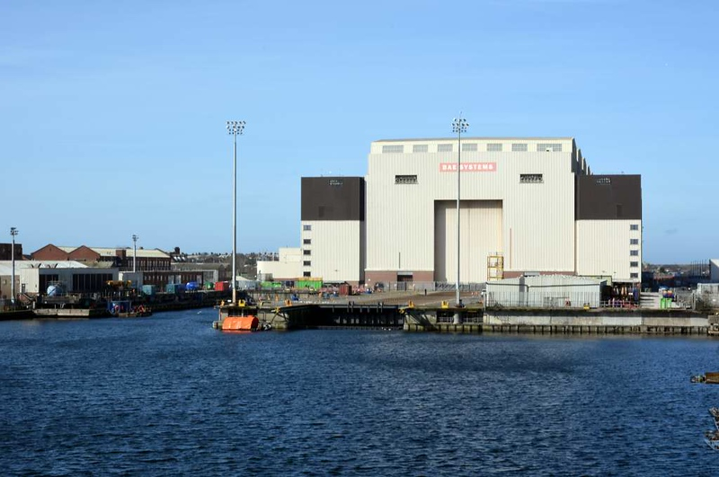 Devonshire dock hall, Barrow-in-Furness, 14 March 2017.  The only remaining location where submarines are built for the Royal Navy, now part of the BAE Systems Group.
