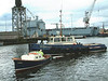 Mounts Bay launch day, 9th April 2004 <br /> <br /> With the new ship safely positioned in the fitting out basin, Ranger and Beaver Bay still have work to do.