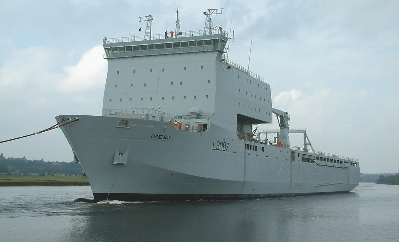 RFA Lyme Bay under tow, 23rd July 2006