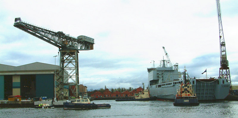 Mounts Bay launch day, 9th April 2004 <br /> <br /> The latest of many at Govan