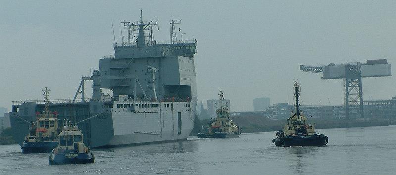 The flotilla approach Clydebank