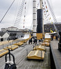 Looking aft on the weather deck, SS Great Britain, Bristol, Tues 4 September 2012 1.  The view from the bow.