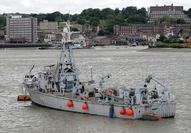 Former Belgian inshore minesweeper 483 Ougree, Chatham, Sat 9 June 2012