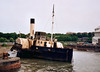 John H Amos, Chatham, May 2003.  Paddle tug built for service on the River Tees as late as 1931.  The first steps towards eventual restoration were taken in 2008.  She was still at Chatham in 2012, but not publicly accessible.