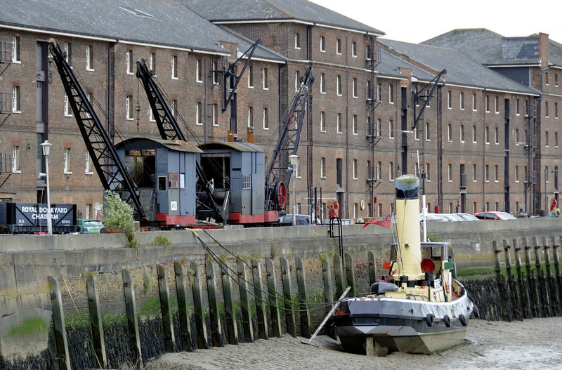 TID 164 and anchor wharf storehouses, Chatham dockyard, Sat 9 June 2012