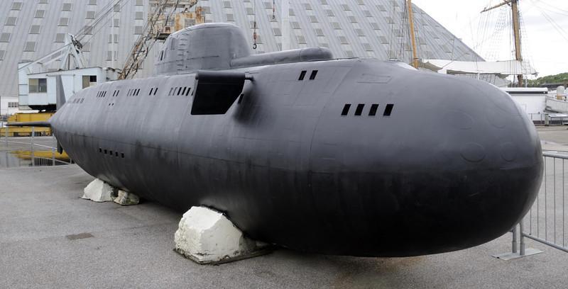Model of Russian Victor class submarine, Chatham dockyard, Sat 9 June 2012 2