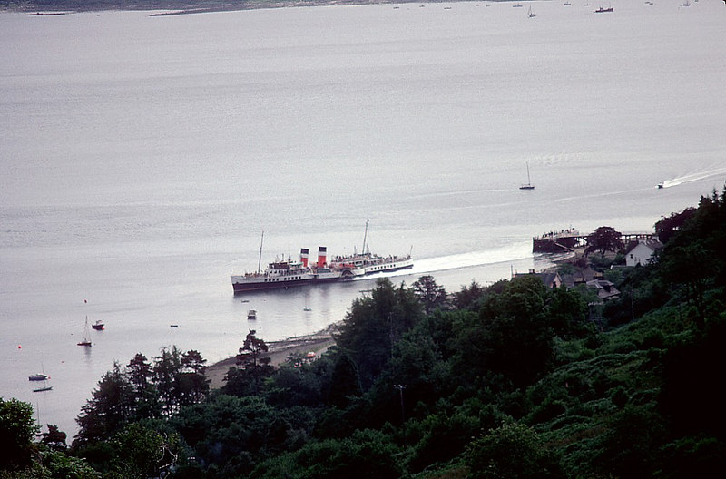 Time and tide wait for no man - Waverley departs Tighnabruach on her return sailing to the resorts and Glasgow