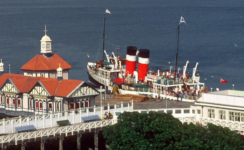 Waverley departing Dunoon for Helensburgh in 1982