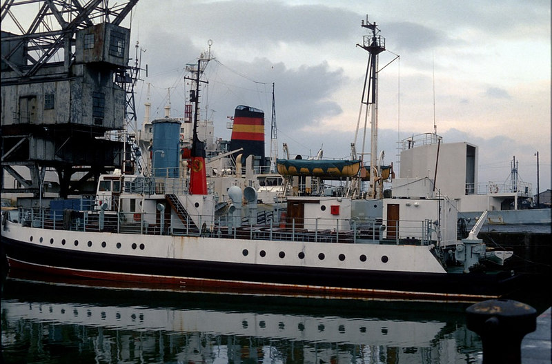 In the early part of 1982 the little CalMac passenger ferry Keppel was tucked away in her winter slumbers in James Watt Dock. She had come to the Clyde second hand in 1967 after serving for six years with two sister ships on the short service across the Thames between Tilbury and Gravesend. When she arrived on the Clyde her name was Rose but after some time it was changed to Keppel, which was appropriate as she had replaced the 31 year old diesel electric paddle vessel Talisman on the passenger service between Largs and Millport (Old) pier. Initially, she was not favourably received when compared with the vessel that she replaced. However, in time her popularity improved. She served on the route for around 19 years then spent a few more summers on inter-resort sailings, CalMac's replacement for full excursion sailings. In 1993 she was renamed Clyde Rose following sale to a private owner on the Clyde. Two years later she was sold to Maltese owners and left the Clyde after 29 years for a long voyage via the North Sea, Rivers Rhine and Danube, Black Sea and Mediterranean to Malta where she now operates, again with Keppel as her name.