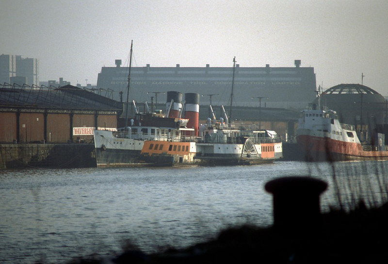 A later view of the work to replace plating around Waverley's main deck windows with the window frame fitted in the newly burned out and prepared apertures  Another hull plate has been burned out for replacement on the lower deck forward of the port sponson.