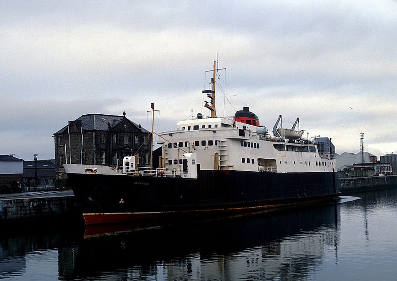 Motor vessel Hebrides, the first of the 1964 trio, in James Watt Dock