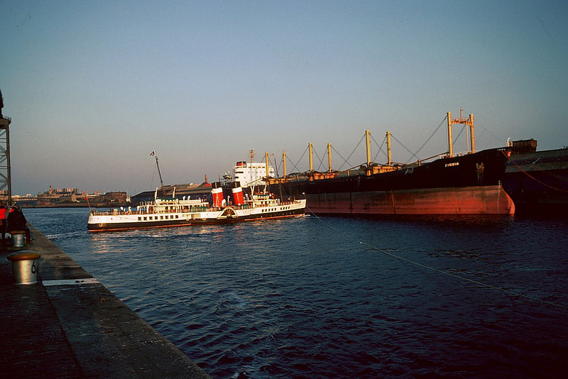 The room to cant was sometimes restricted by laid up tonnage, this one the bulk carrier Zinnia from Tyneside.