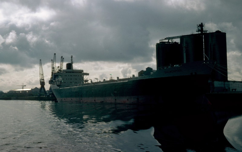 Salmonpool was another vessel laid up on the Clyde for a spell in 1982 - at Shieldhall Quay/ <br /> <br /> Twenty-four years later the same vessel returned to the same berth, under the name Yeoman Bank
