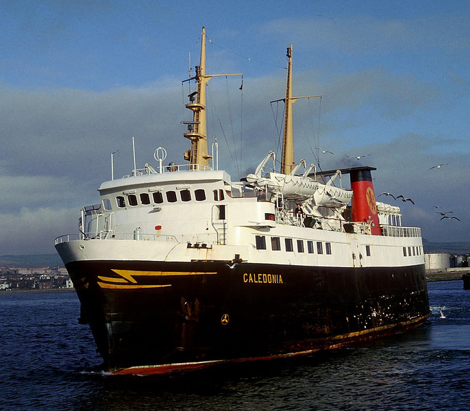 Caledonia canting at Ardrossan