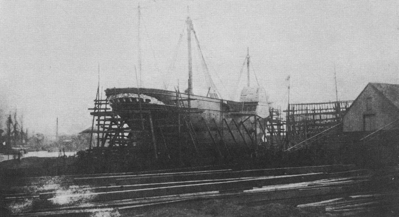 RMS Persia - almost ready for launch in 1856.