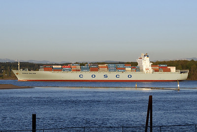 COSCO DALIAN (IMO number: 9300312)  Columbia River | St. Helens, Oregon  | Canon EF 70-300mm f/4-5.6 IS USM