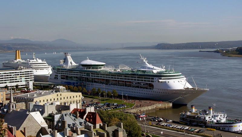 Enchantment of the Seas (1997, Royal Caribbean) & Oriana, Quebec, 1 October 2005
