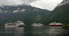 MSC Opera, Thomson Celebration & Nordnorge, Geiranger (Norway), 12 June 2008