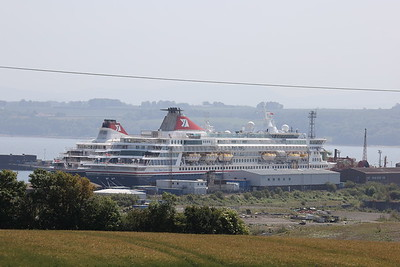 Balmoral (nearer) and Braemar at Rosyth