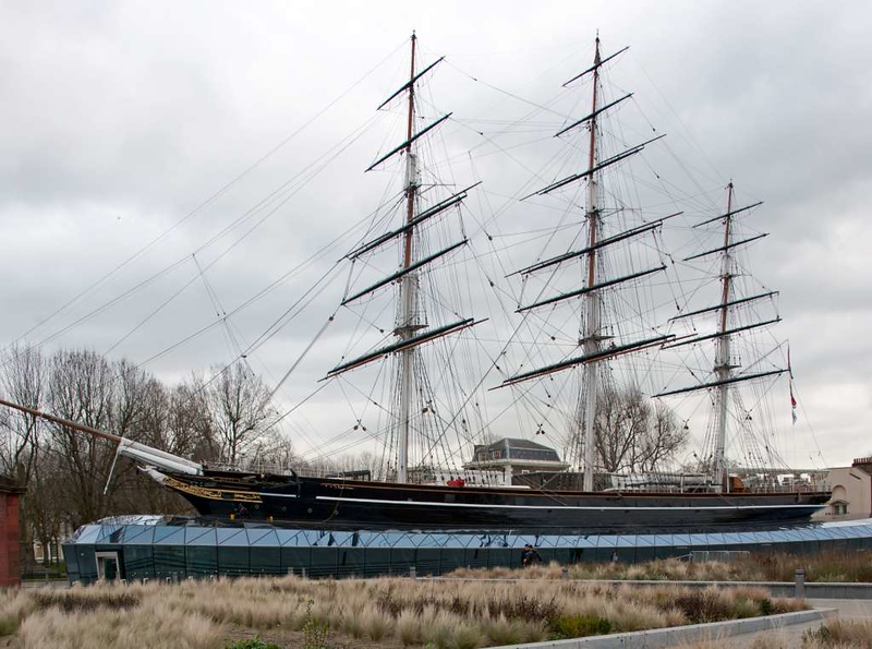 Cutty Sark, Greenwich, 27 January 2015 1.  Following a disastrous fire in 2007 the ship has been renovated and installed in a dry dock.