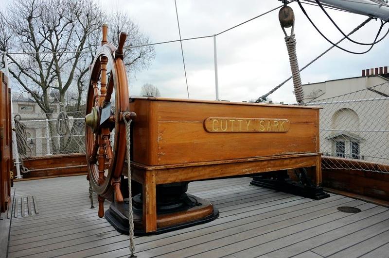 Ship's wheel, Cutty Sark, Greenwich, 27 January 2015