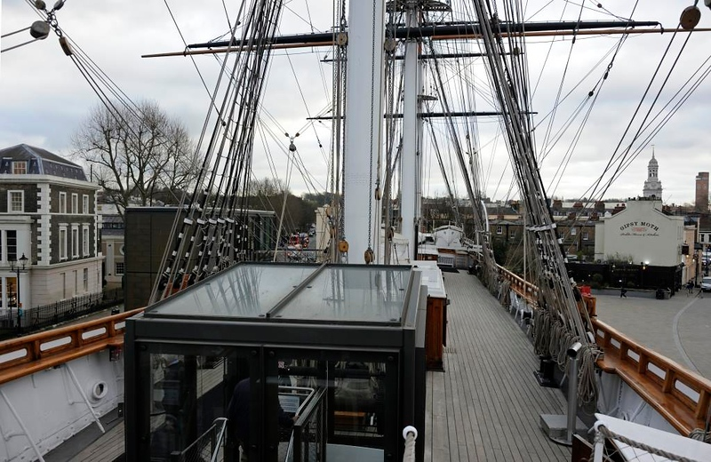 Cutty Sark, Greenwich, 27 January 2015.  Looking aft.