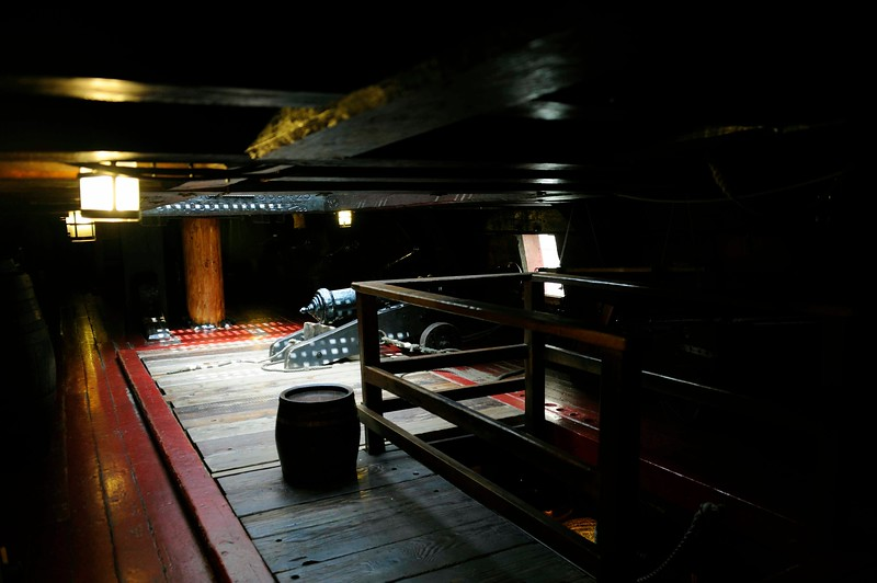 Gun deck, Golden Hinde II, Southwark, London, 3 September 2013 1.  Where the crew lived and ate.