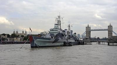 HMS Belfast, London, 2007 & 2013