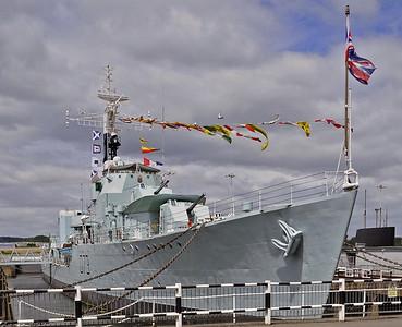 HMS Cavalier, Chatham historic dockyard, 2012